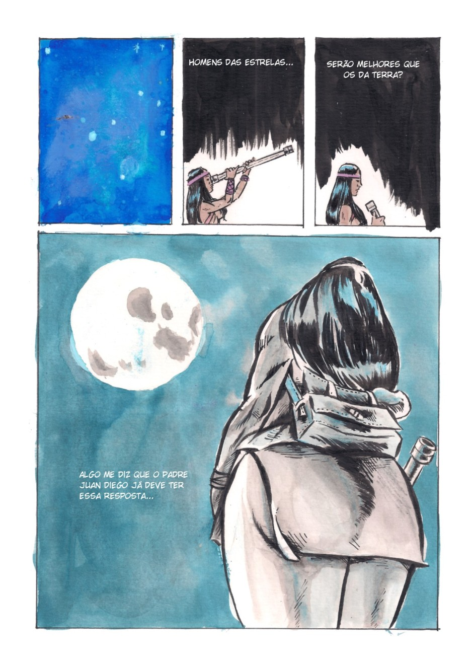 observando estrelas