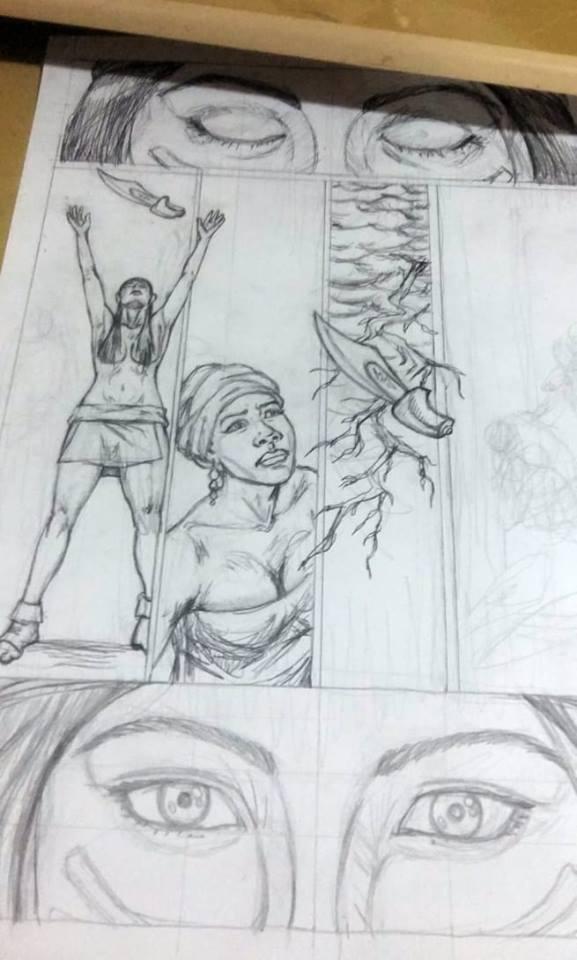 Página de história em quadrinhos