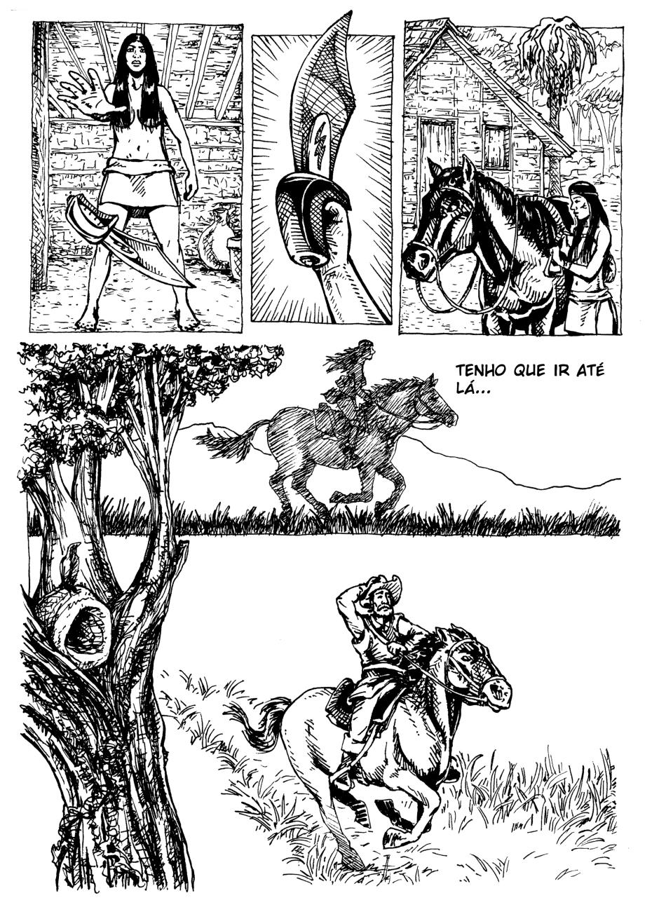 página de quadrinhos.