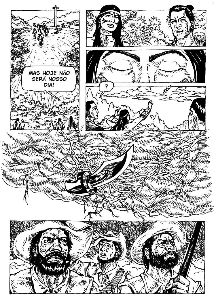 página de quadrinhos